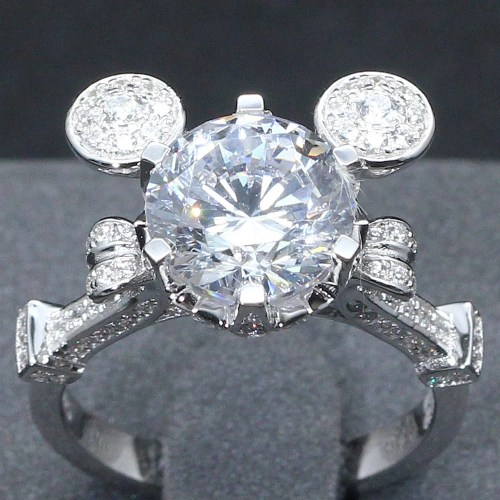 disney princess ring disney wedding ring 3 Carat Mickey Mouse Cinderella Mashup Pumpkin Carriage Fairy Tale Wedding Engagement Promise Wedding Ring Disney Once Upon A Time