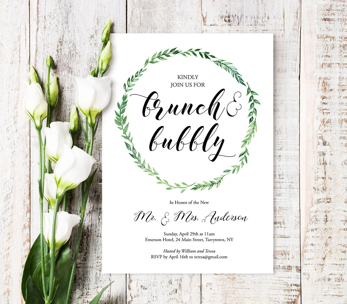 brunch bubbly invitation template wedding brunch invitations Brunch Bubbly Invitation Template Printable Post Wedding Brunch Invite Instant Download Editable Text PDF File Digital WB