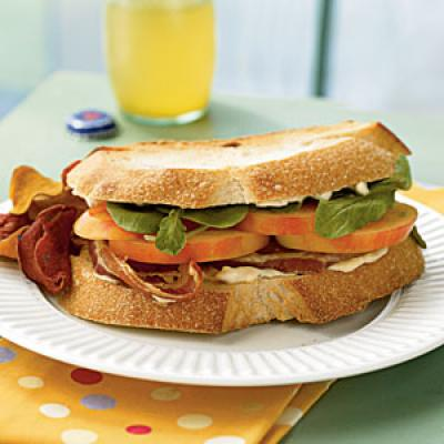 Mr. Stripey Tomato, Arugula, and Pancetta Sandwiches - Our Best Healthy Lunch Ideas - Cooking Light