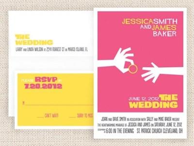 Reserved Movie Poster Wedding Invitation