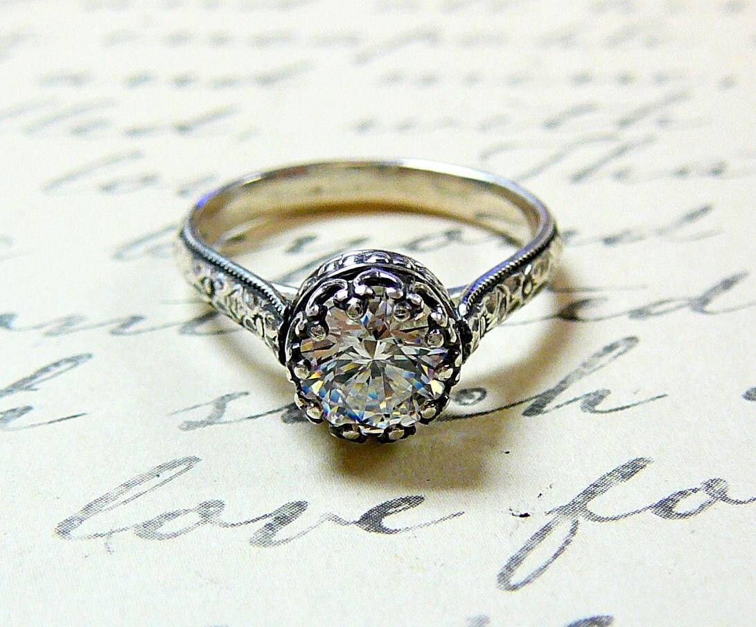 georgiana ring vintage engagement cheap vintage wedding rings zoom