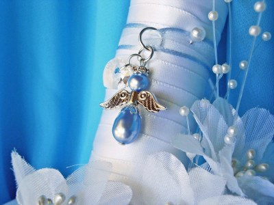 Something Blue Wedding Bouquet Charm Angel by ...