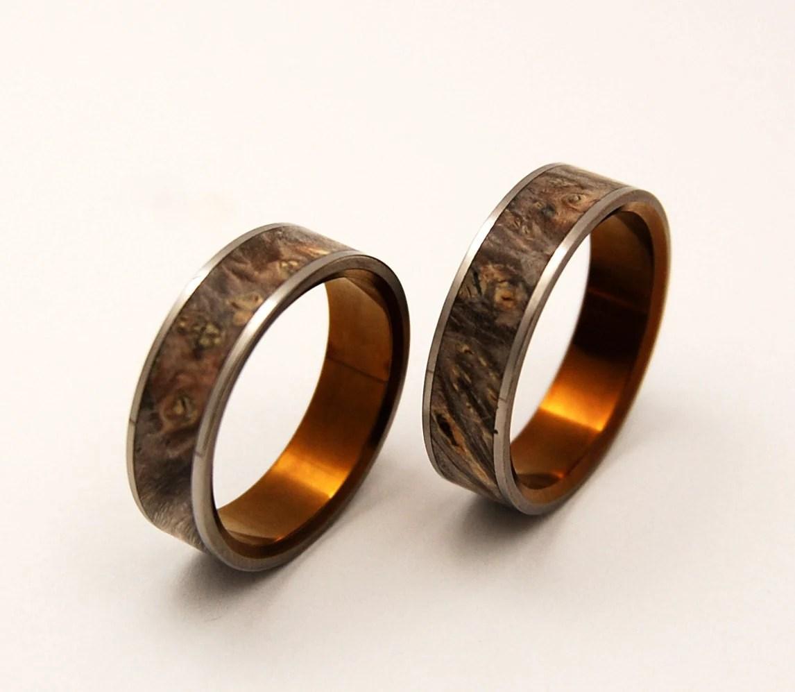 wedding rings titanium rings wood rings etsy wedding bands zoom