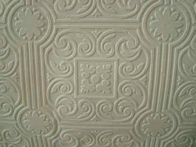 Roll of Vintage Textured Paintable Wallpaper Raised Medallion
