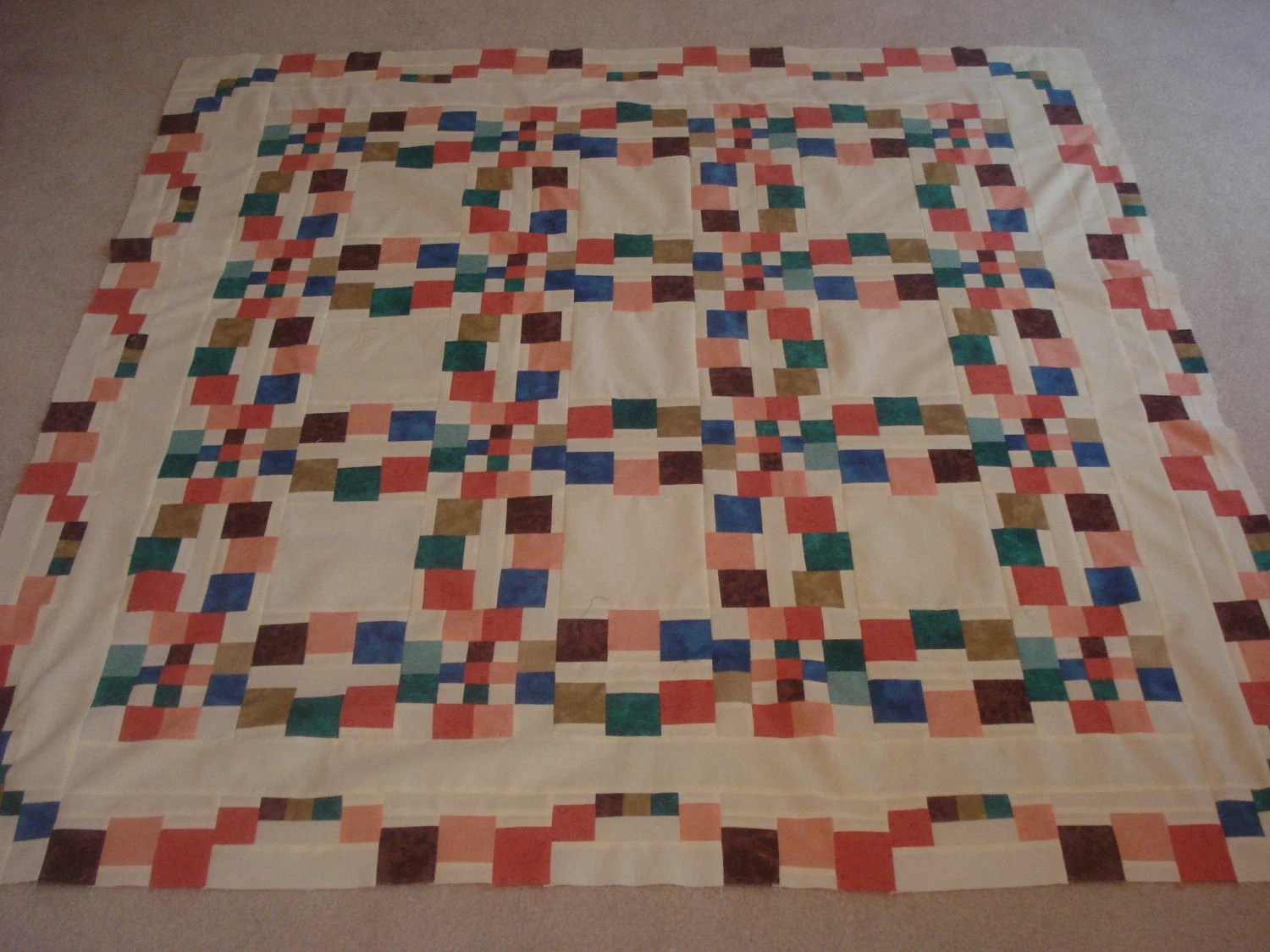 monets wedding ring quilt quilt top only wedding ring quilt pattern Monet s Wedding Ring Quilt Quilt Top Only zoom