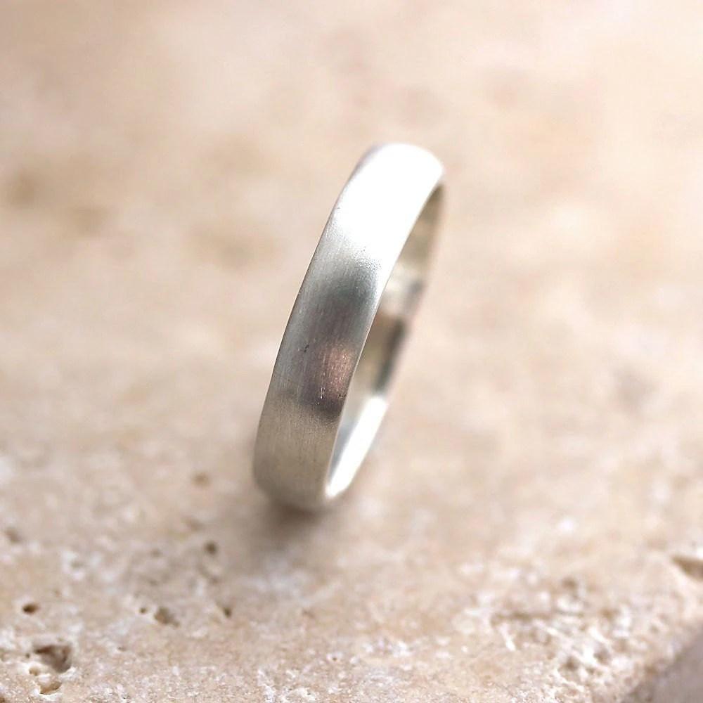 silver wedding band brushed mens or etsy mens wedding bands zoom