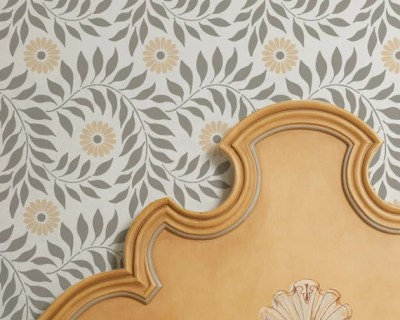 Wall Stencil Allover Indian Floral for DIY Wall Decor More