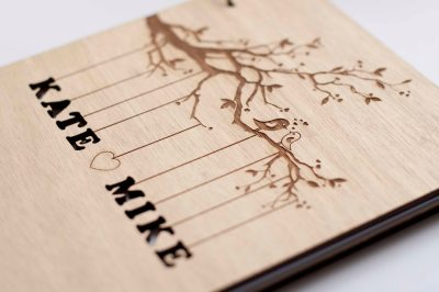 Rustic Wedding Guest Book Wedding Guestbook Custom Guest Book