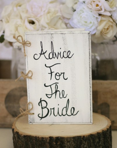 Bridal Shower Guest Book Shabby Chic Wedding Decor