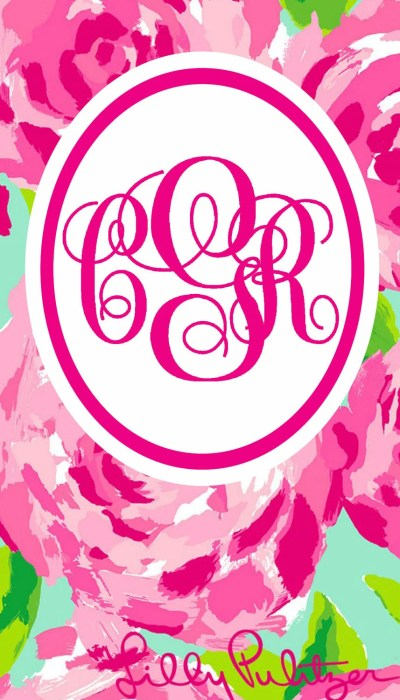 Monogrammed Lilly Pulitzer iPhone Wallpaper by ElloreeGrace