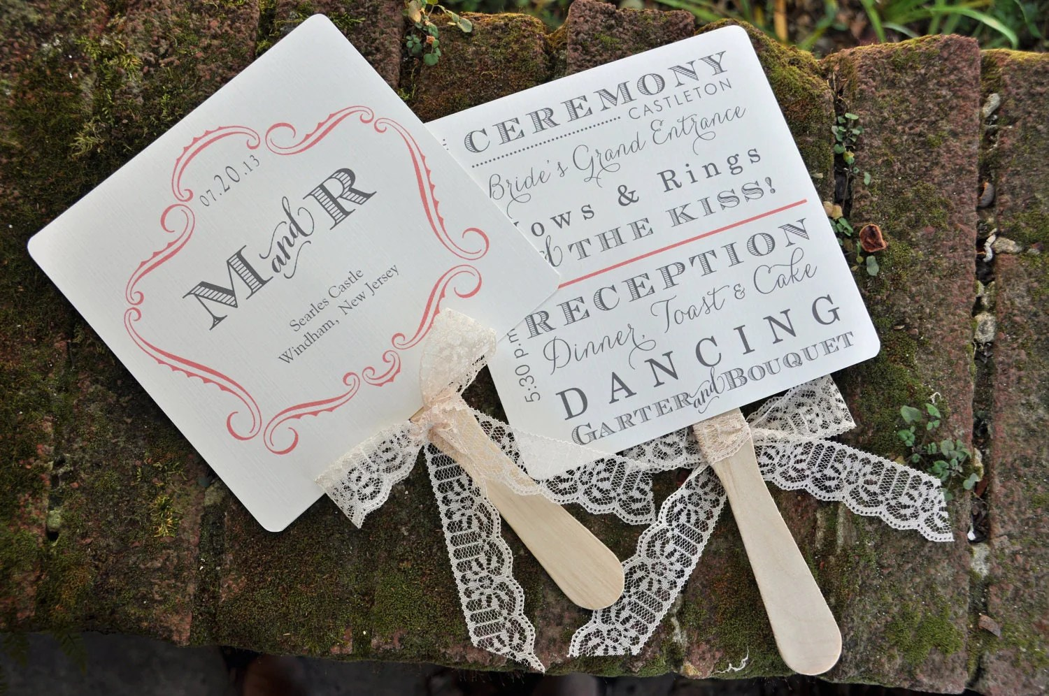wedding ceremony fan wedding fans Vintage Wedding Favor Fans or Fan Programs
