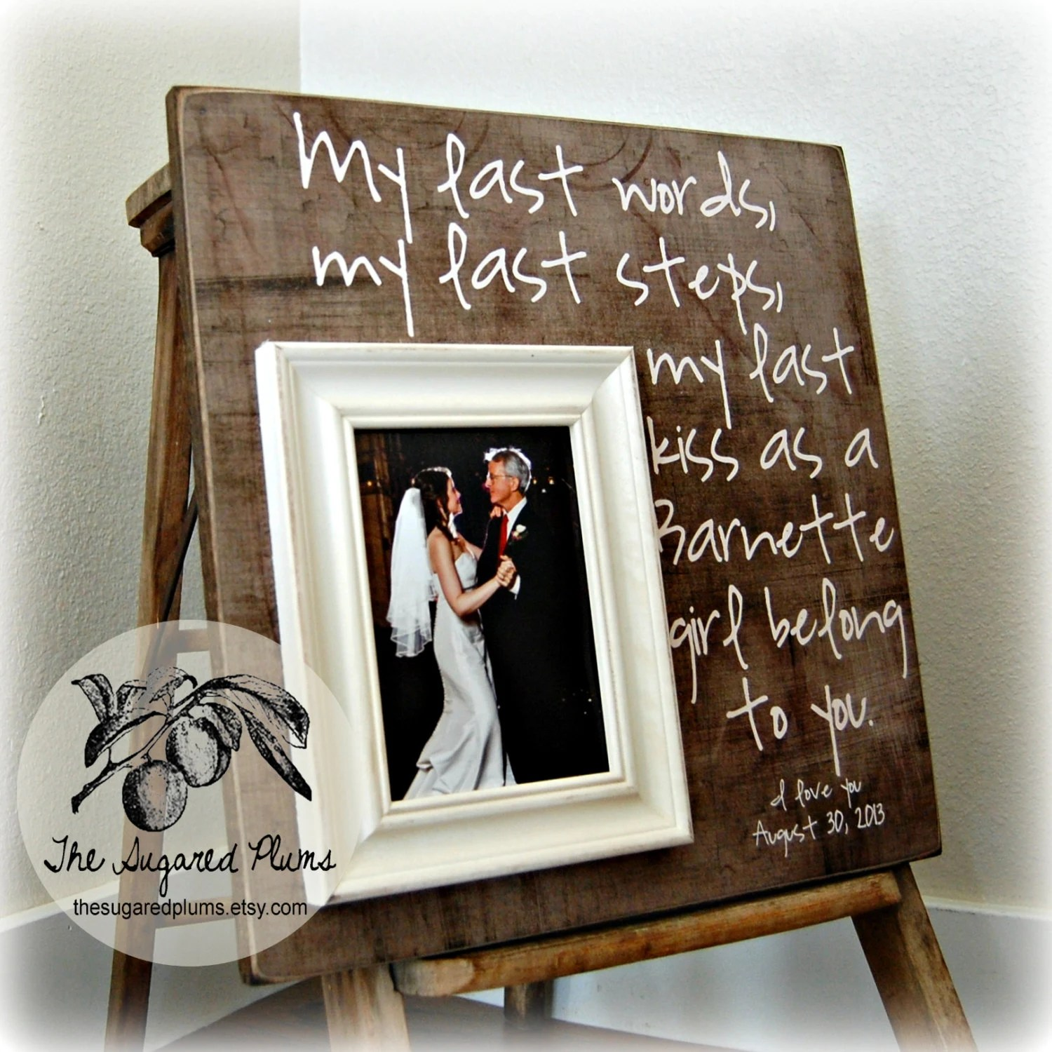 daughter of groom parent wedding gifts Father of the Bride Gift Father of the Bride Frame Father Daughter Gift Parents Thank You Gift Wedding