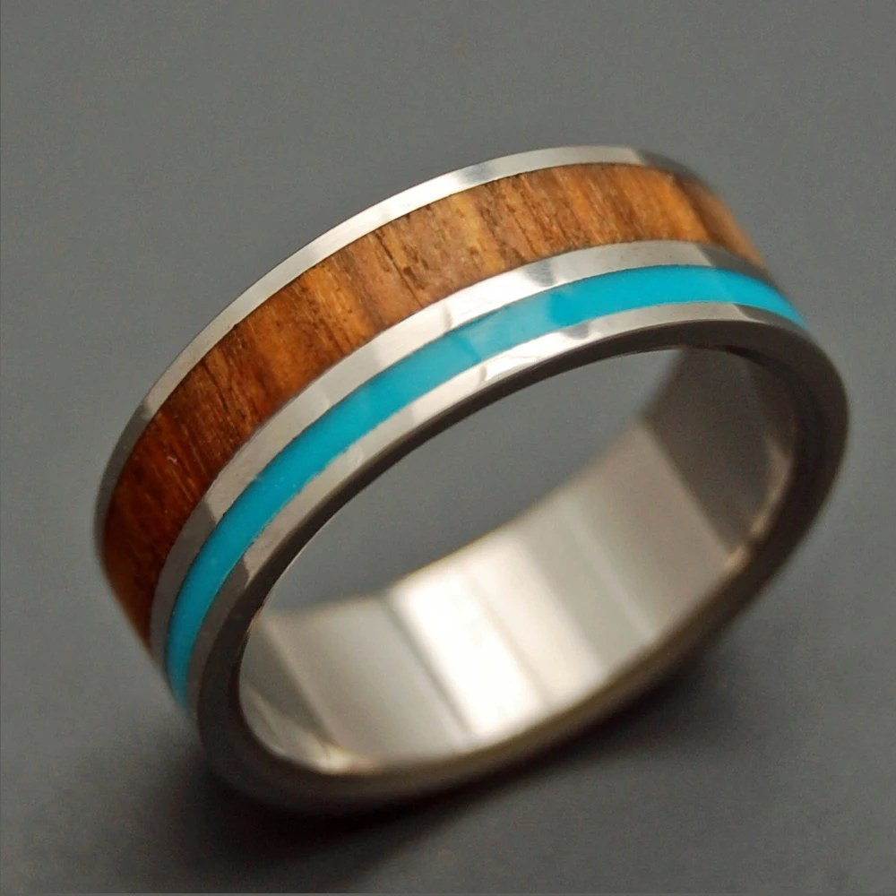 wooden wedding rings titanium ring wooden wedding bands zoom