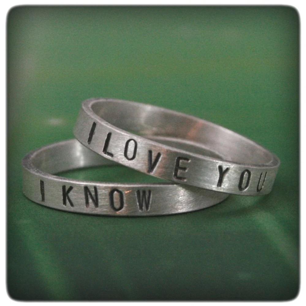 i love you ring i know band star wars star wars wedding bands zoom