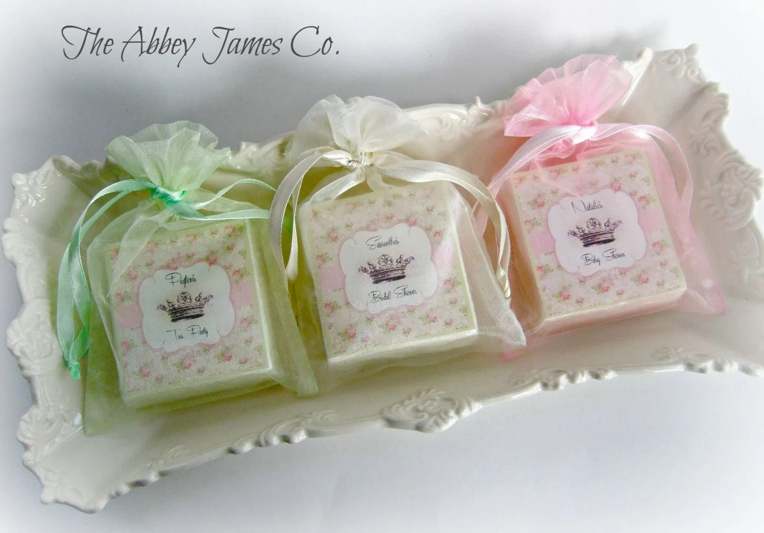 shabby chic shower favors tea party wedding shower favors Baby Shower Favors Shabby Chic Wedding zoom