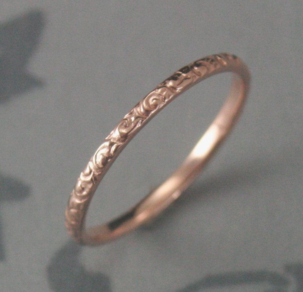 thin rose gold wedding ring 14k rose rose gold wedding rings zoom