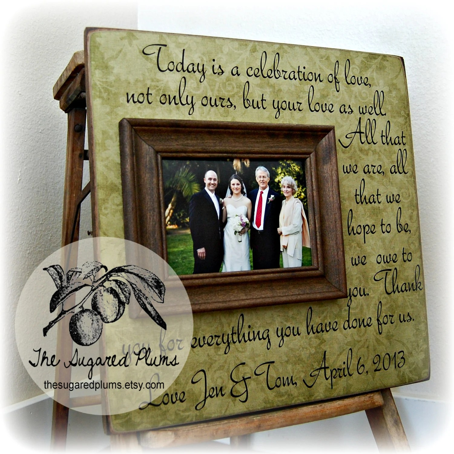 parents thank you wedding frame today is parent wedding gifts zoom