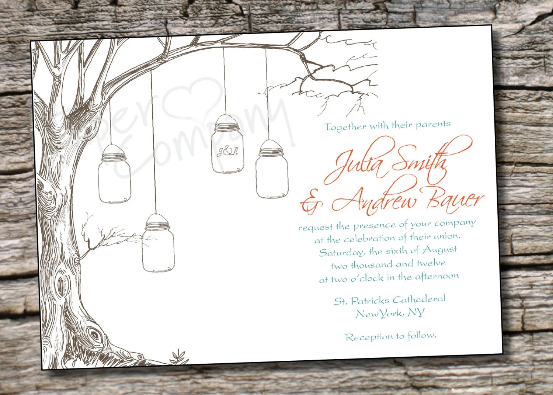 mason jar wedding invitations template mason jar wedding invitations Mason Jar Wedding Invitations Template Free Inspiring