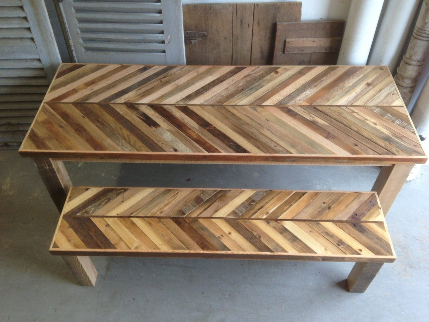 reclaimed pallet and barn wood kitchen wooden kitchen table zoom