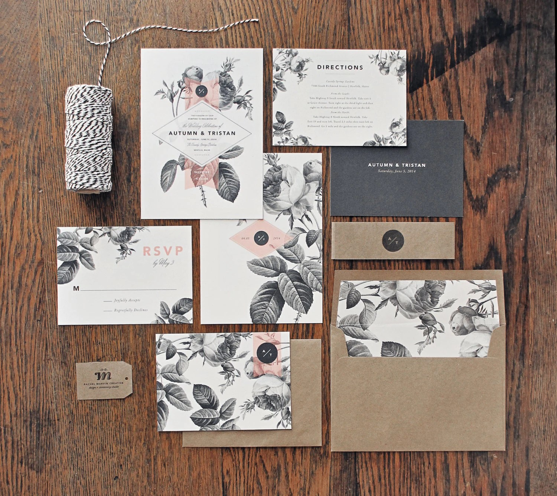 painterly floral wedding invitation wedding invitation set zoom