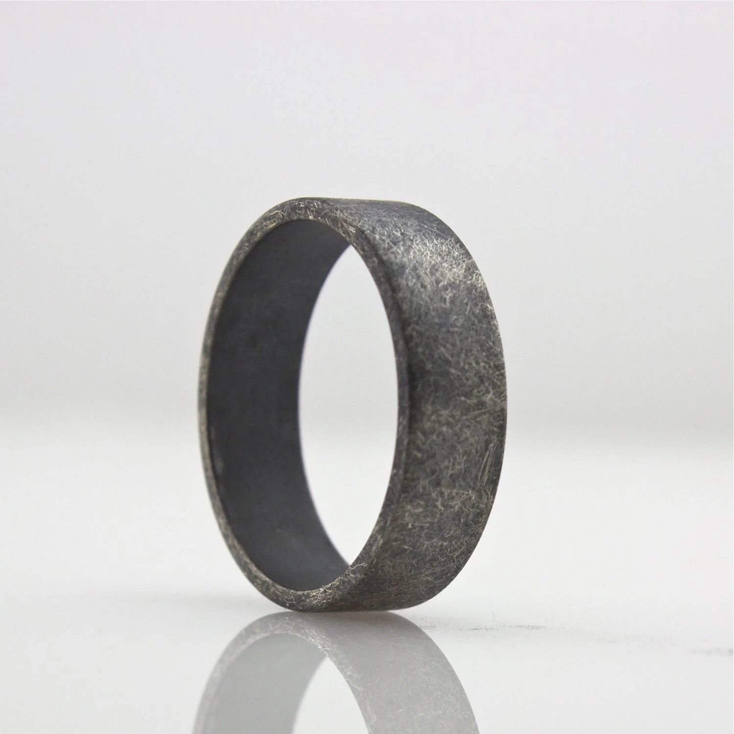 wide sterling silver ring mens wedding wedding band mens zoom