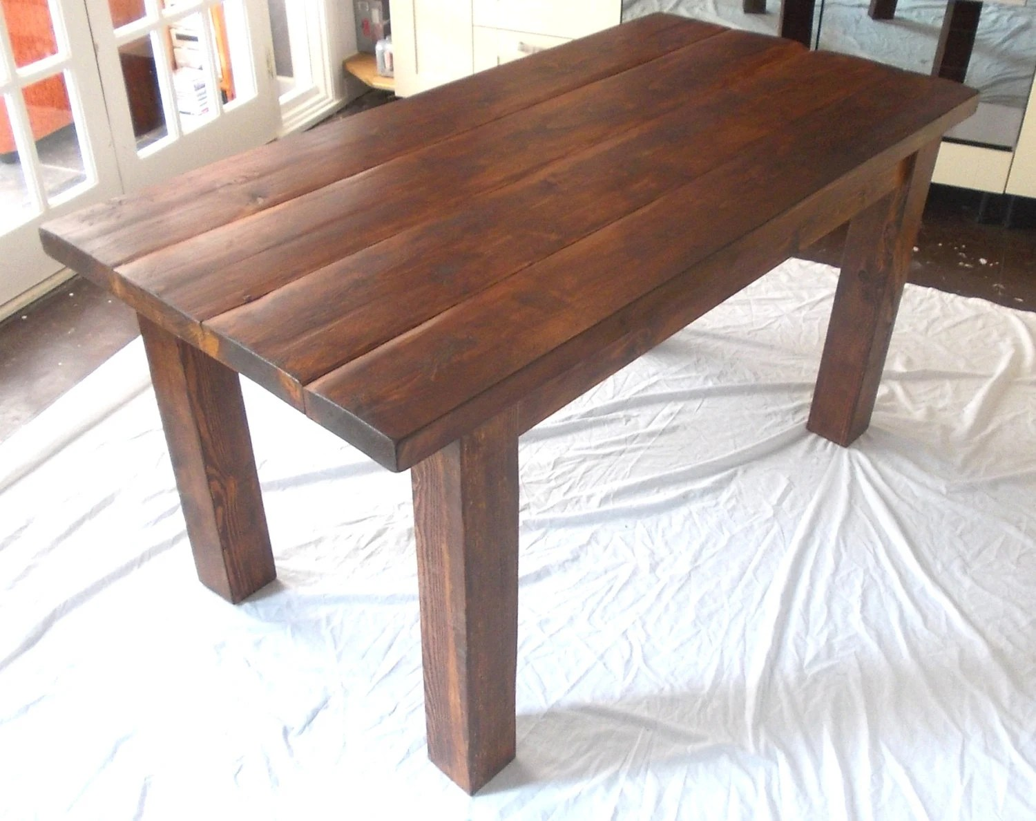 rustic solid wood plank kitchen dining solid wood kitchen tables zoom