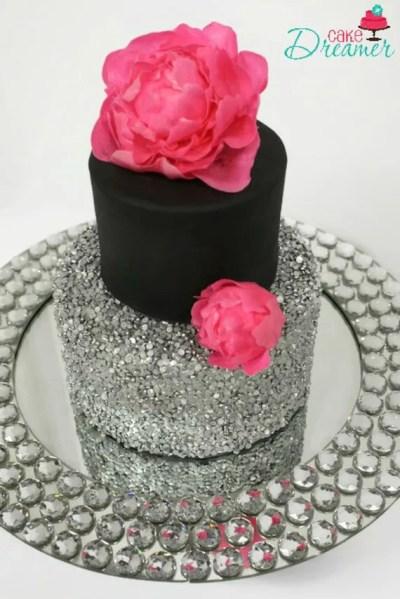 Fake Sequin Wedding Cake Styrofoam Cake Dummy Cake Faux
