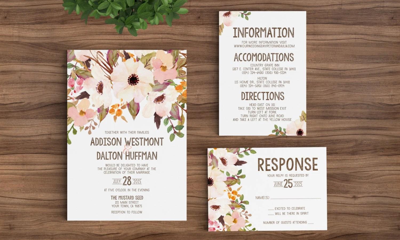 wedding invitation template printable etsy wedding invitations zoom