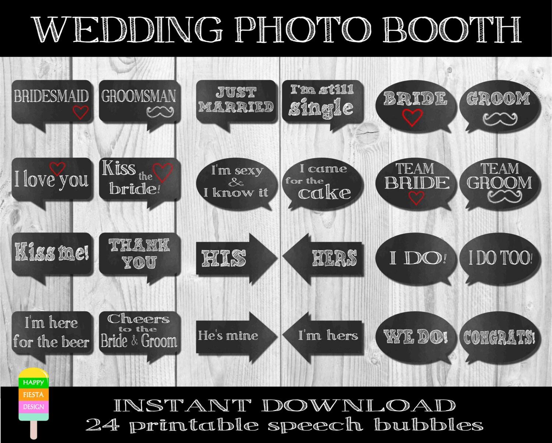 printable wedding speech bubbleswedding wedding photo booth props zoom