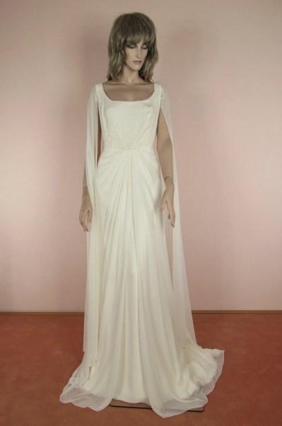 jaren 90 Vintage trouwjurk Vintage Empirestijl Hand