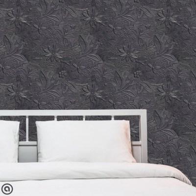 Removable Wallpaper Embossed Tin Peel & Stick Self Adhesive