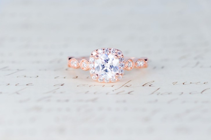 rose gold engagement ring art deco ring rose gold wedding rings Rose Gold Engagement Ring Cushion Cut Halo Ring Art Deco Ring Promise Ring Vintage Ring Wedding Ring Sterling Silver