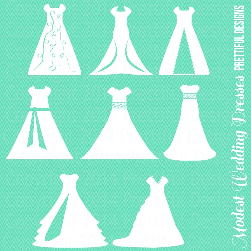 modest wedding dress lds wedding dresses Modest Wedding Dress Clipart Temple LDS Mormon Clip Art png eps svg Vector