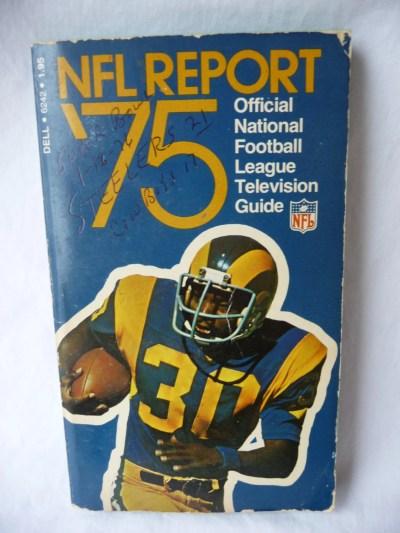 vintage paperback NFL Report '75 National Football