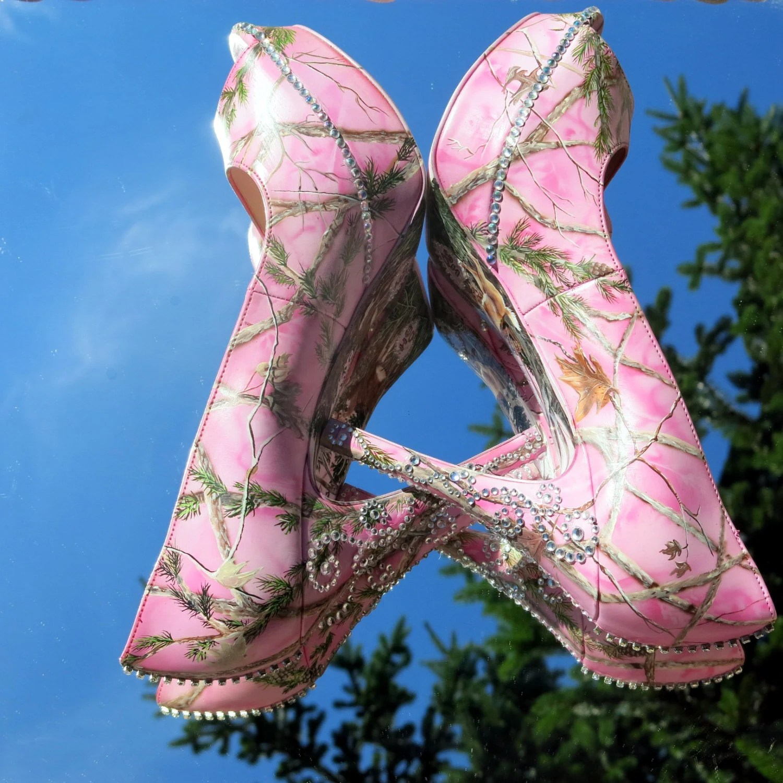 camo heels blue camo wedding dresses pink camo hand painted women s camouflage bling wedding bridal shoes custom heels