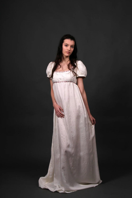 jane austen dress wedding dress Desiree regency wedding dress empire waist wedding dress bespoke jane austen wedding dress sense and sensibility pride and prejudice