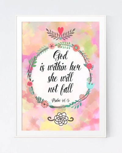 Items similar to Psalm 46:5