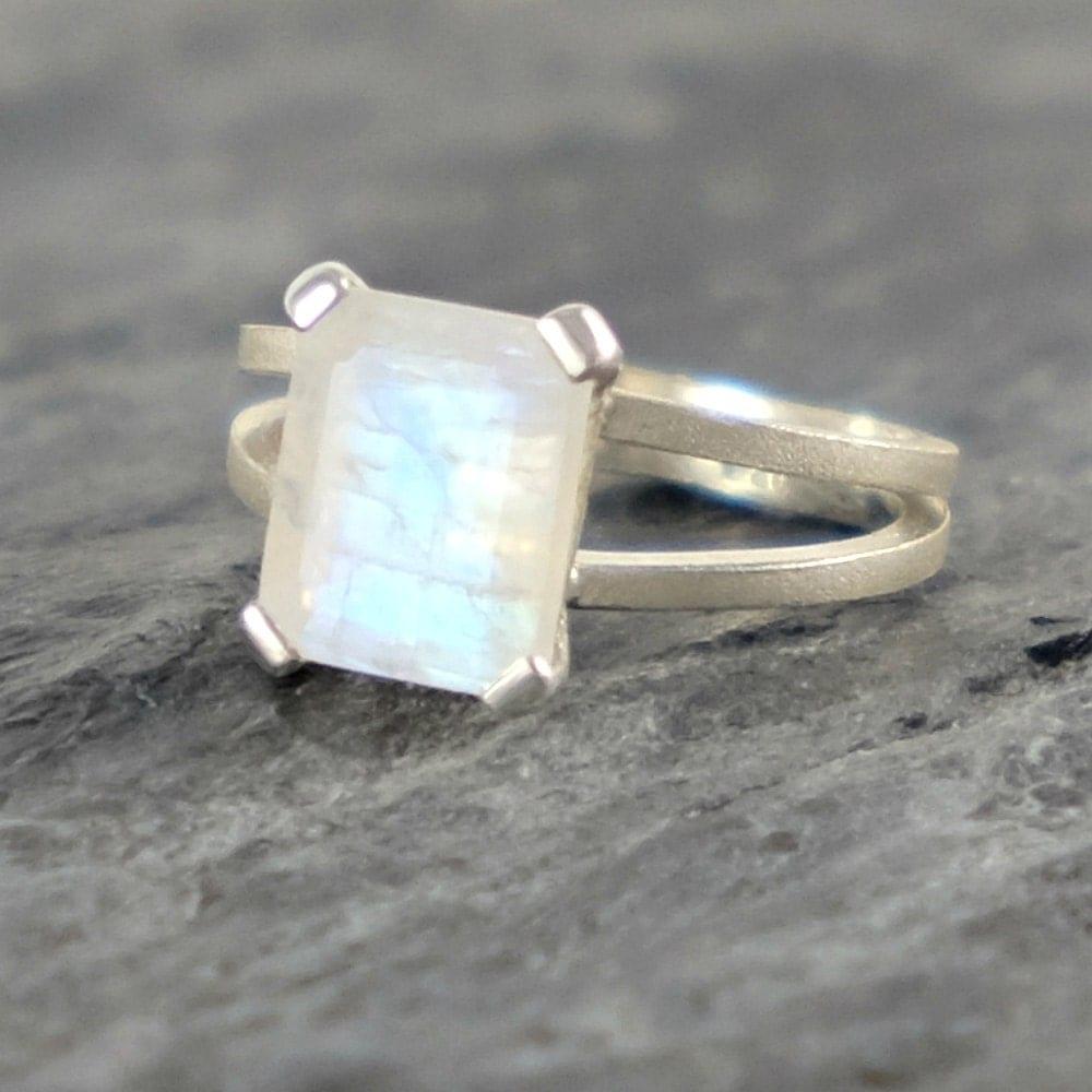 moonstone engagement ring rainbow moonstone wedding ring sets zoom