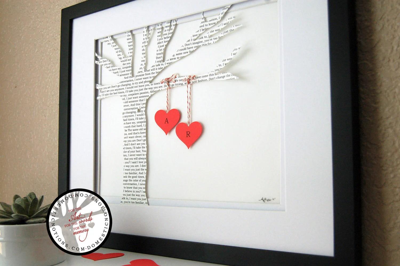 wedding gift personalized song lyric wedding gift zoom