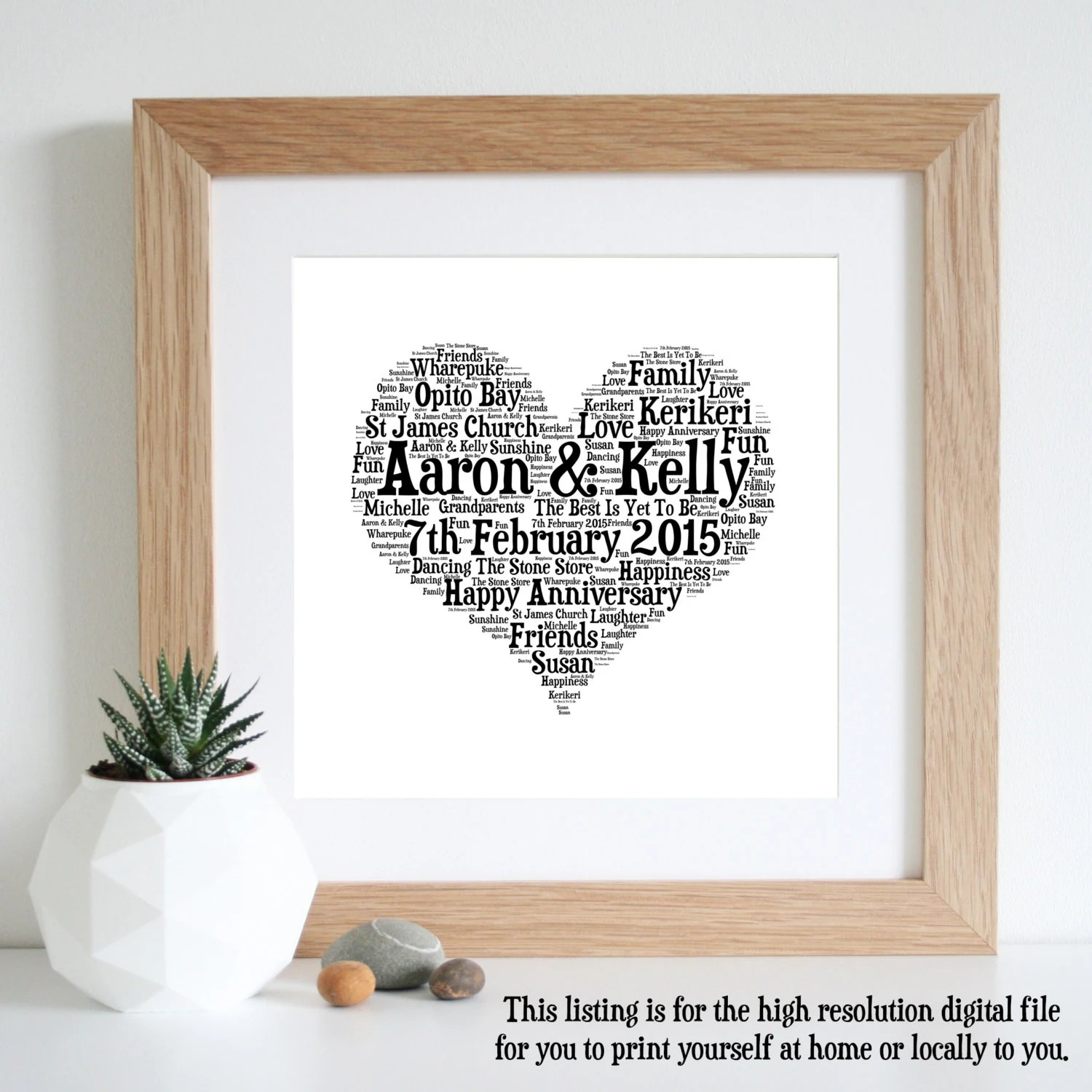 40th wedding anniversary traditional gift first wedding anniversary gift ideas traditional 1st wedding anniversary gifts 1st anniversary gift etsy word art paper 1 year