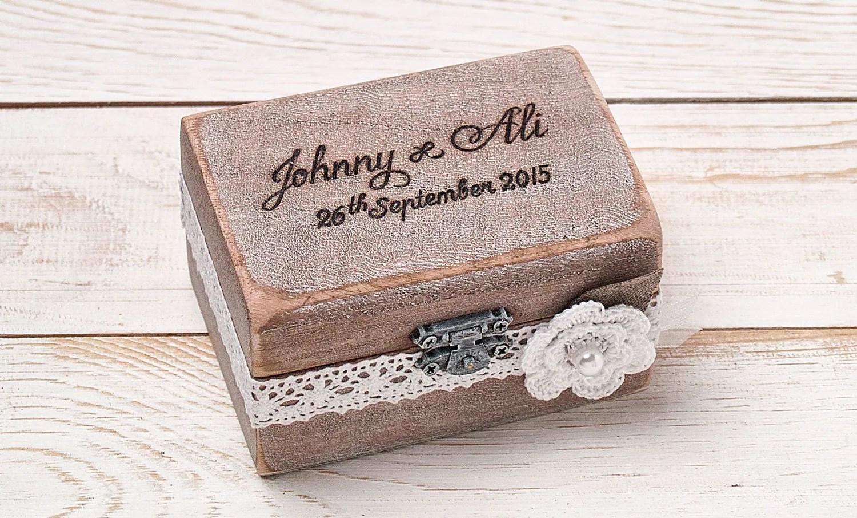 wood engagement ring wooden wedding rings Ring Bearer Box Wedding Ring Box Personalized Ring Box Rustic Vintage Wedding Ring Holder Pillow Ring Bearer Box Custom Wood Wooden Box