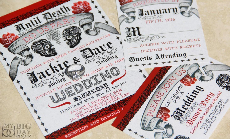 skull wedding skull wedding invitations Day of the Dead Wedding Invitations Mexican Wedding Sugar Skulls wedding invitation