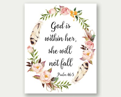 Psalm 46:5 God Is Within Her She Will Not Fall Bible Verse