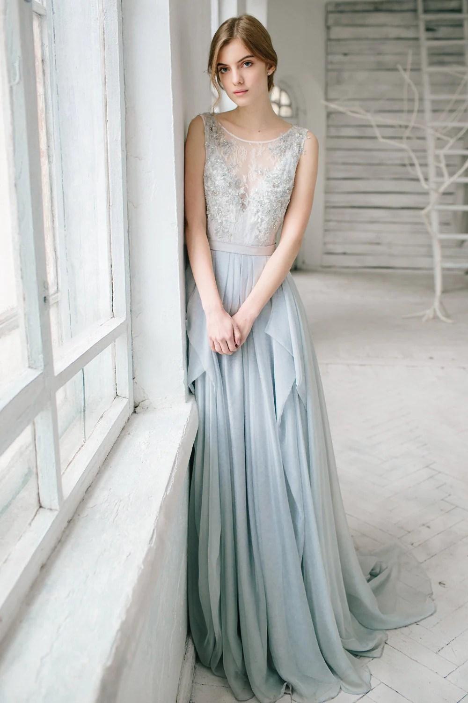 silver grey wedding dress lobelia silver wedding dresses Silver grey wedding dress Lobelia zoom