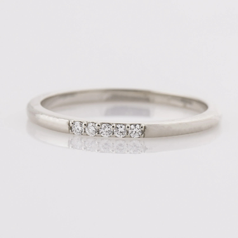tiny diamond ring dainty wedding bands Thin Diamond Ring 14K White Gold Stacking Ring Dainty Diamond ring five Diamonds Band 5 Stone Band Stackable Band Tiny Diamond Ring