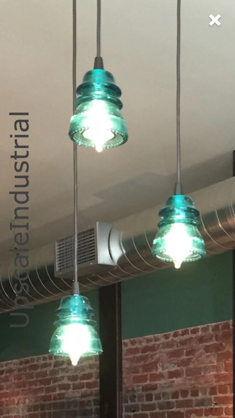 insulator lighting chandelier vintage rustic pendant lighting kitchen Insulator Lighting Chandelier VINTAGE s 60 s Repurposed Industrial Glass Insulator Pendant Light Rustic Pendant Lighting Kitchen Island