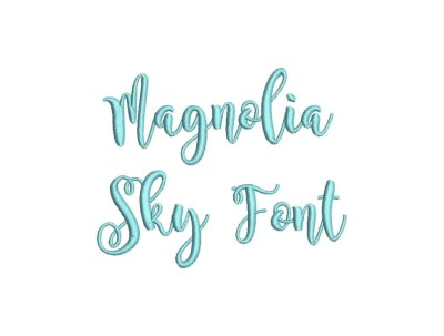 Magnolia Sky Font Embroidery Font Machine Embroidery Alphabet
