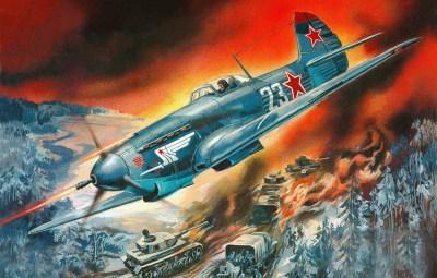 Wallpaper fighter, fighter, airstrike, Yakovlev, Soviet, single-engine, Russian, WW2., column ...