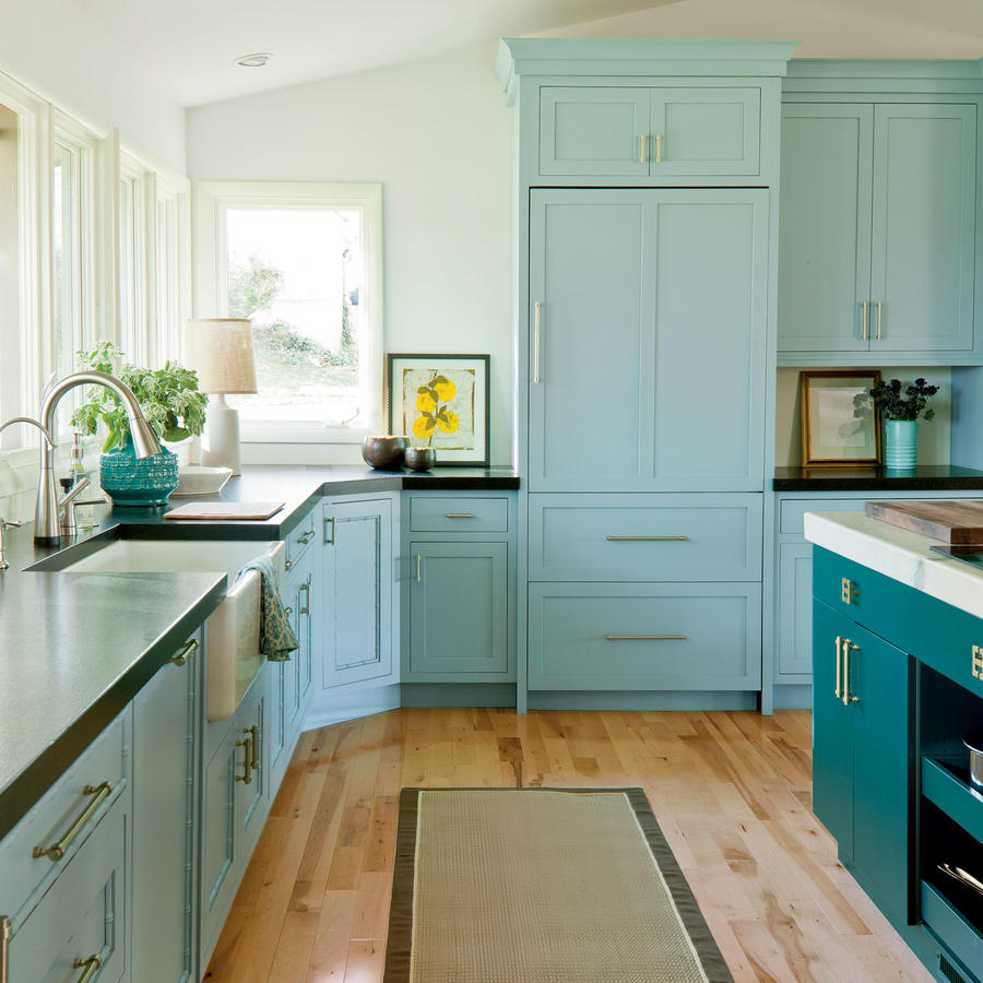 cool stock cabinetry turquoise kitchen cabinets Cool Stock Cabinetry