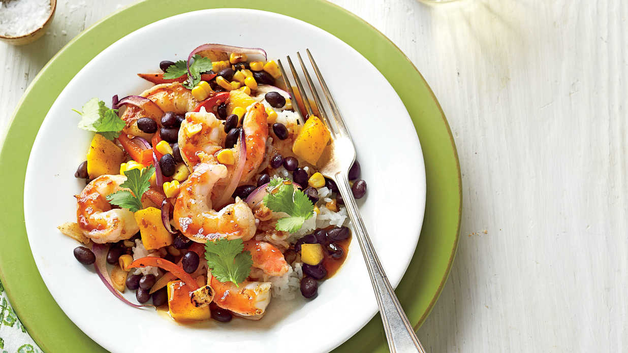 Shrimp-and-Black Bean Stir-Fry - 26 Quick-Fix Seafood Suppers - Southern Living